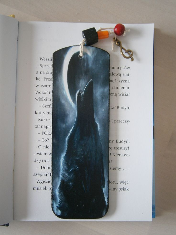 decoupage bookmark wolf wilk #decoupage #bookmark #wolf
