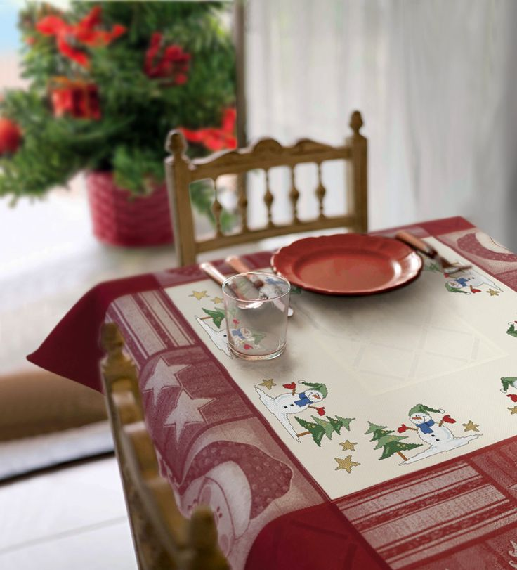 14 best images about nappes de noel on pinterest mesas - Nappe de table pour noel ...