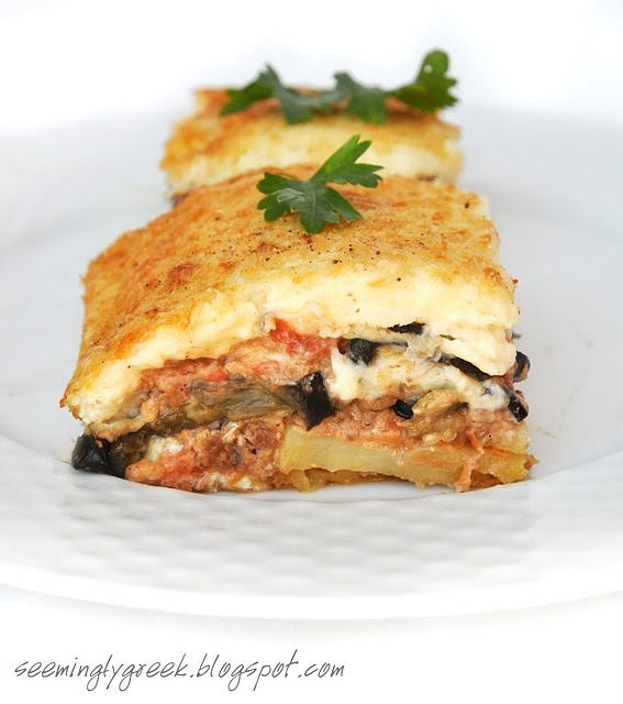 Moussaka Authentic And Traditional Greek Recipe: 62 Best Images About Greek Pastisio/Moussaka/Papoutsakia