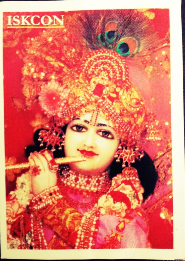 Handout at ISKON temple