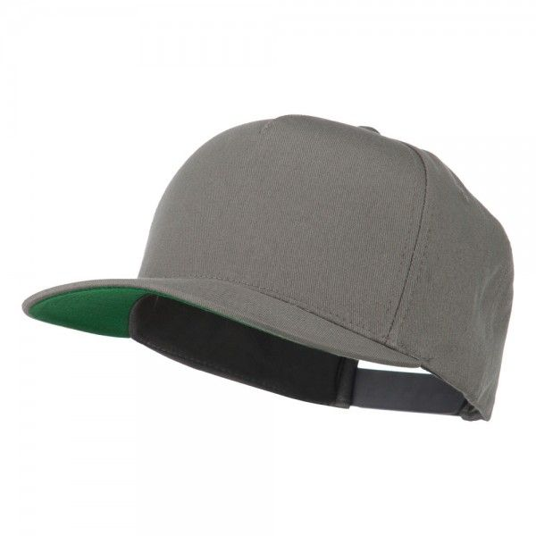 Ball Cap - Dark Grey 5 Panel Twill Snapback Solid Cap // e4Hats