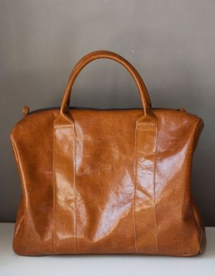 Duża, lekka torba walizkowa. Na weekend, albo na co dzień, na miasto.  #weekender #Leather bags #Brownleather #brownleatherbag #leathersatchel