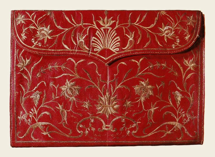 Leather clutch wallet embroidered with gold thread of Adam Kazimierz Czartoryski by Anonymous from Istanbul, 1781, Muzeum Czartoryskich