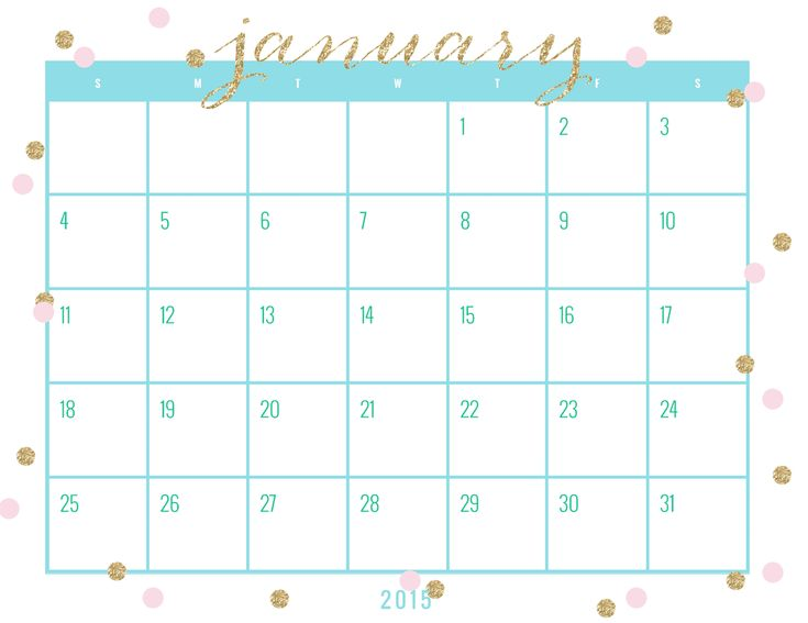 24 Best Calendars Images On Pinterest | 2015 Calendar Printable