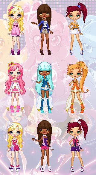 Lolirock - Lolirock Girls Pixel Dolls by cutepiku on DeviantArt