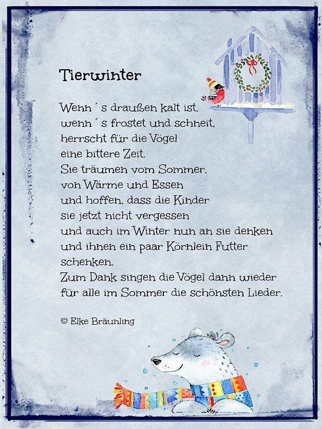 Tierwinter. Wintergedicht