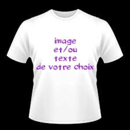 Tee-shirt personnalisé image et/ou texte