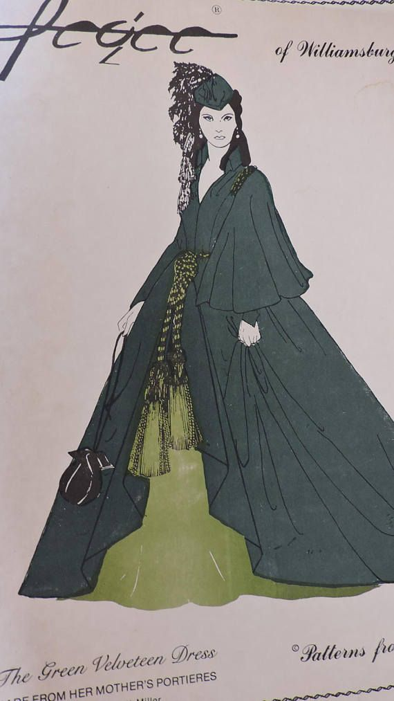 Green Velveteen Dress Design Historic Stage Play Pegee of