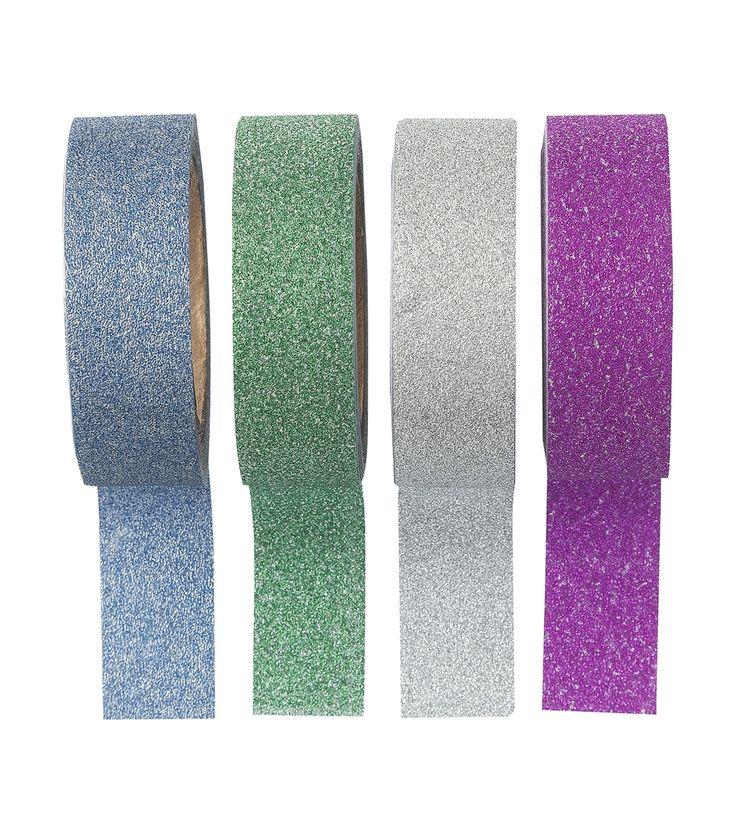 Glitter mag en kan altijd! Met deze set van 4 glitter tapes kan je dus goed uit de voeten…