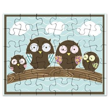 Owl Family Puzzle from cafepress store: AG Painted Brush t-Shirts. #owls #puzzle