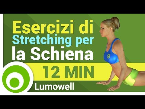 Stretching Schiena: Esercizi per Rilassare ed Allungare la Schiena - YouTube