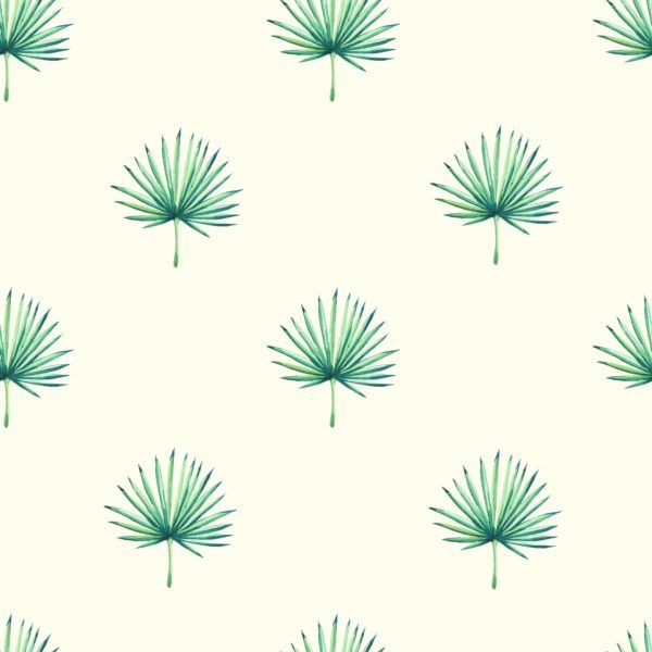 Watercolour-Leaves-Seamless-Tropical-Pattern