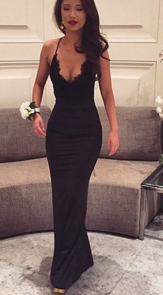 Sexy prom dress,Tight dress,Black Prom Dresses,Mermaid Prom Dress,Lace Prom Dress,Backless Evening Gowns
