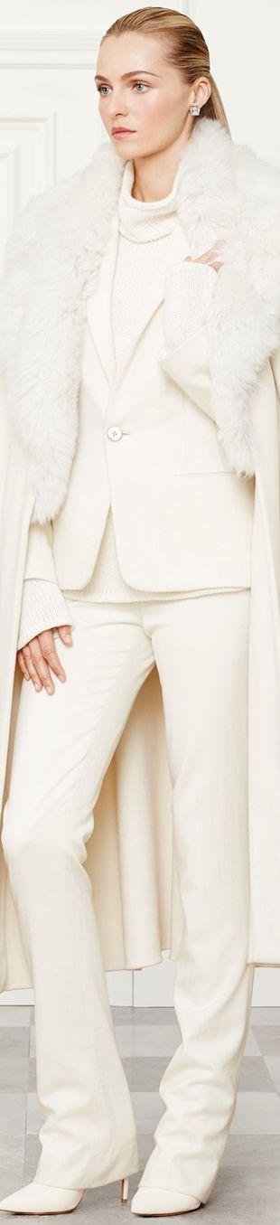 Ralph Lauren Fall 2014 Collection Wool/Cashmere Leonarda Coat