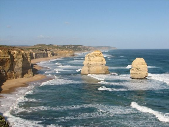 The Great Ocean Road, VIC, Australia -  This coastal road runs for 241km, between Torquay and Warrnambool. This is one of the world's most scenic coastal drives, allowing drivers a perfect view of the iconic 12 Apostles.