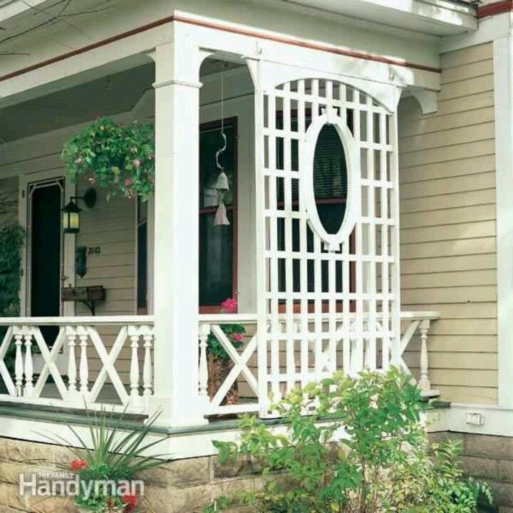 Best 25 porch privacy ideas on pinterest patio privacy for Privacy shutters for deck