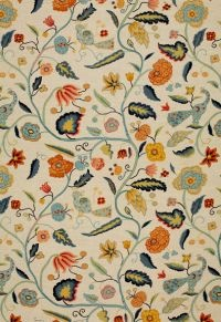 Apsley Vine Apricot / Teal by F Schumacher