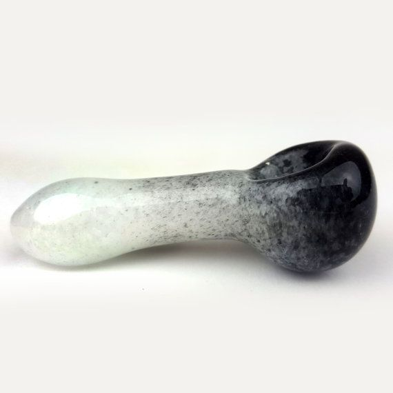 Black and White Color Glass Smoking Pipe Peanut shaped Glass Smoking Bowl. Color: Black and White Length: from 2.5 inches to 3 inches Weight: