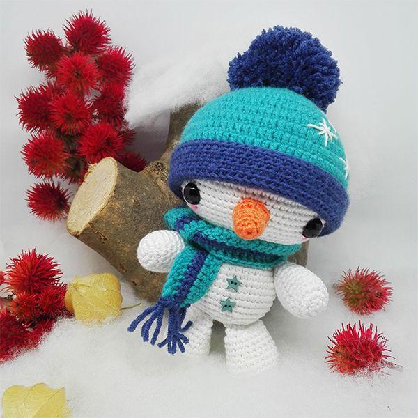 El blog de Dmc: Patrón de ganchillo gratis: Muñeco de nieve Darisbleu