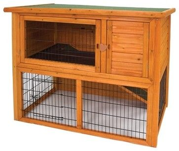 Premium Penthouse Rabbit Hutch - modern - pet accessories - Wayfair