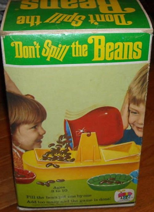 SCHAPER: 1967 Don't Spill the Beans Game #Vintage #Games
