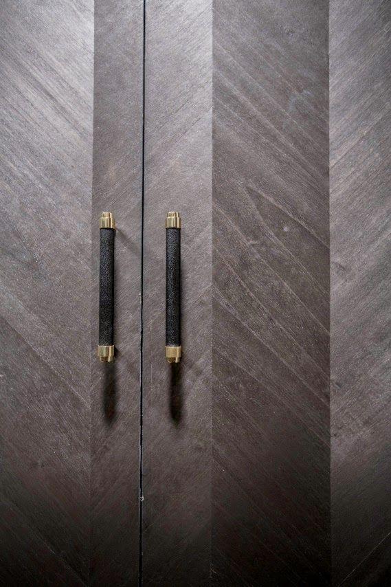 Closet hardware. via COCOCOZY: INDUSTRIAL ORGANIC NYC LOFT