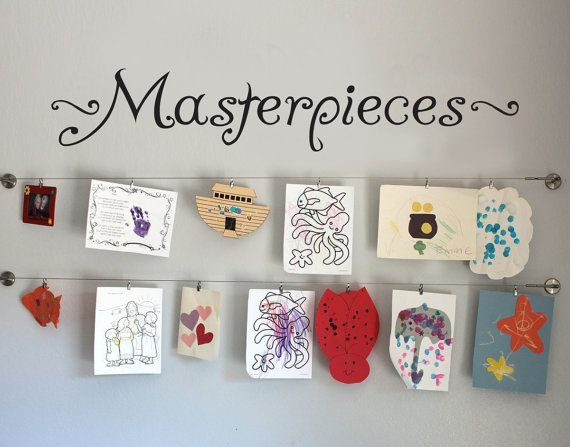 """MASTERPIECES Wall Decal Vinyl Wall Sticker For Kids ART Display Quote up to 42"""" wide"""