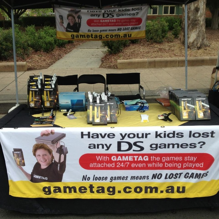 Gametag at the Fishers Ghost Festival 10th November 2012. Gametag storage system for your DS games.  Have all your games where ever you are! Gametag DS game case and holder.  http://www.youtube.com/watch?v=Wcy5hUlZuc4