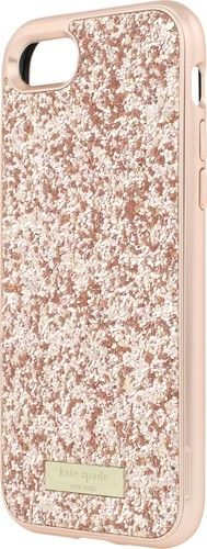 kate spade new york - Glitter Case with Bumper for Apple® iPhone® 7 - Rose gold/Exposed glitter rose gold