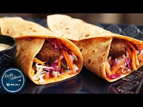 Lebanese Falafel Wrap | Easy To Make Wrap Recipe | Ruchi Unboxes With Bajaj Electricals - YouTube