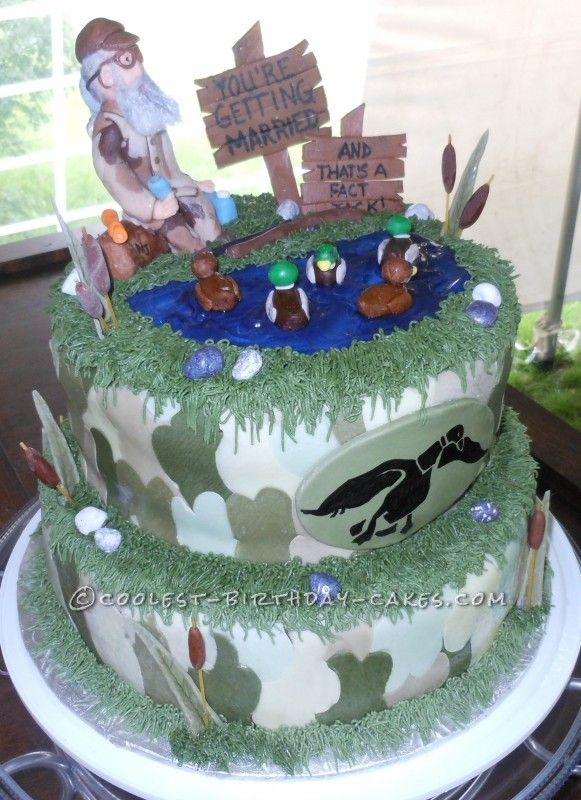 Duck Dynasty Wedding Ideas | Coolest Homemade Duck Dynasty Groom Cake - 1