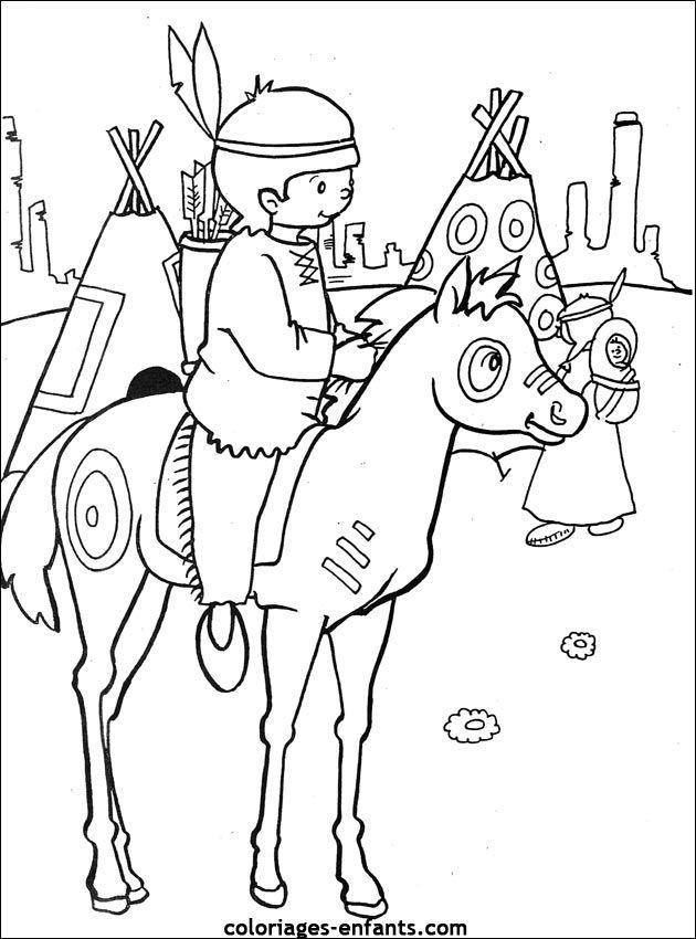 Les coloriages d'indiens * 1500 free paper dolls at international artist Arielle Gabriels The International Paper Doll Society also free Chinese paper dolls The China Adventures of Arielle Gabriel *