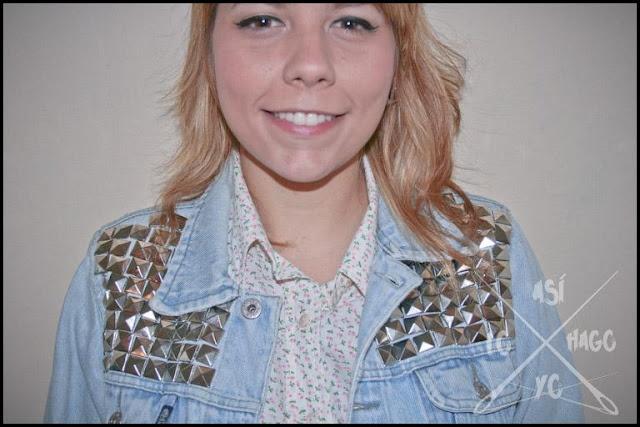 ¿Qué hacer con una vieja chaqueta de jean? DIY chaqueta de tachas // What to do with and old Jean Jacket? DIY Studded Jacket
