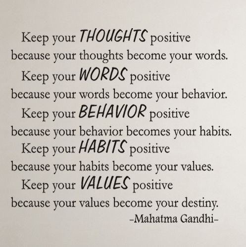 Keep Your Thoughts Positive Mahatma Gandhi Quote #sigilaffirmations