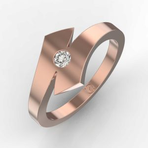 Ribbon of Honour in Pink Gold Ring