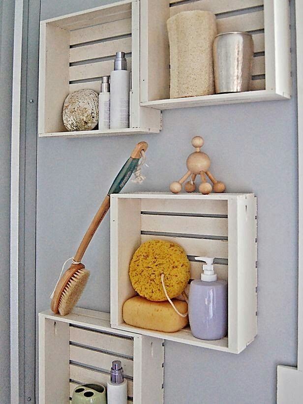 Cute idea with crates, storage....