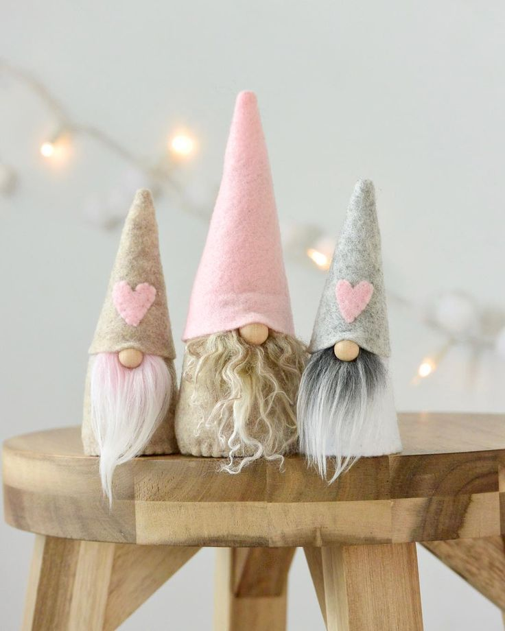 Who can resist these adorable little gnomes! A must have (and give) this Valentine's Day!