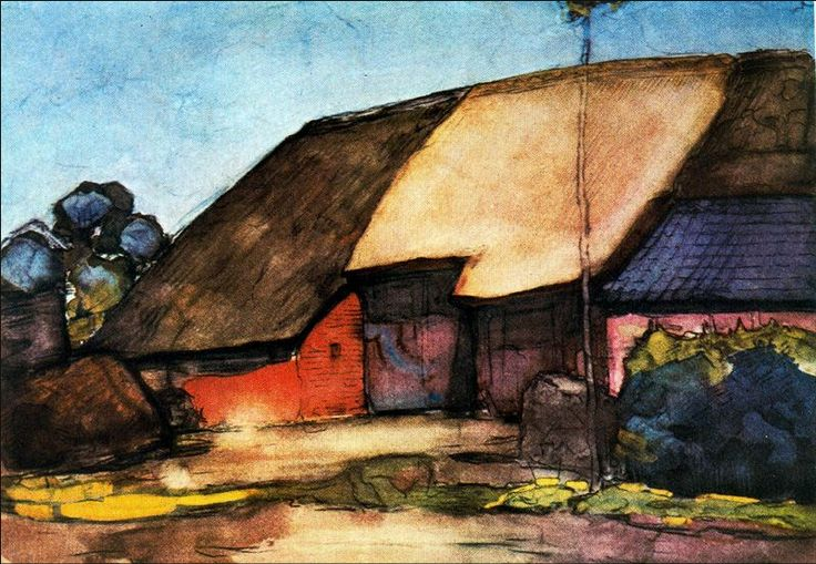 Small Farm On Nistelrode | 1904 | Piet Mondrian davidcharlesfoxexpressionism.com #pietmondrian #abstractimpressionism #postimpressionism #impressionism #abstractart #abstract #expressionism #painting #oilpainting #dutchpainter #smallfarmonnistelrode