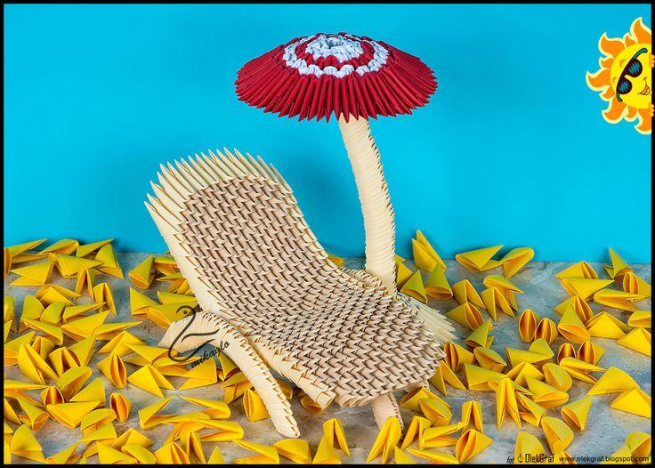 Origami Beach Chair And Umbrella