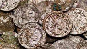 Roman coins found  BBC News website  22 March 201-