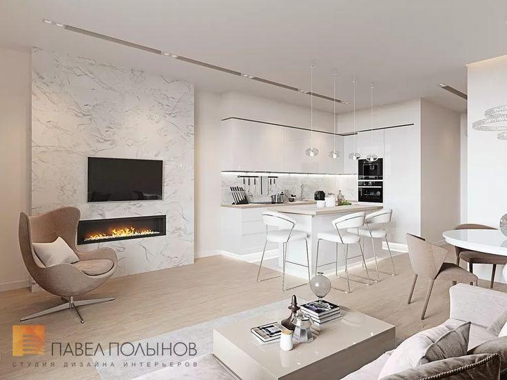 Фото: Дизайн интерьера кухни-гостиной - Интерьер однокомнатной квартиры в современном стиле