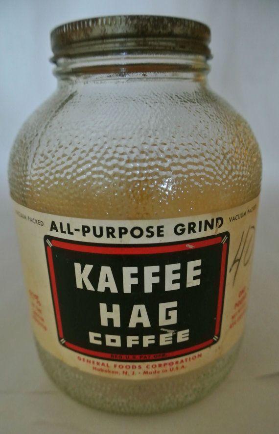 Kaffee Hag Vintage Coffee Jar. Vintage by DomesticTitanVintage