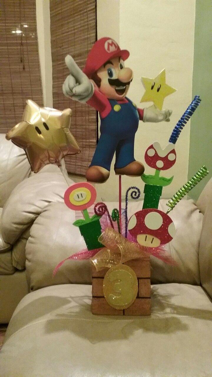 Centro de mesa de Mario Bros