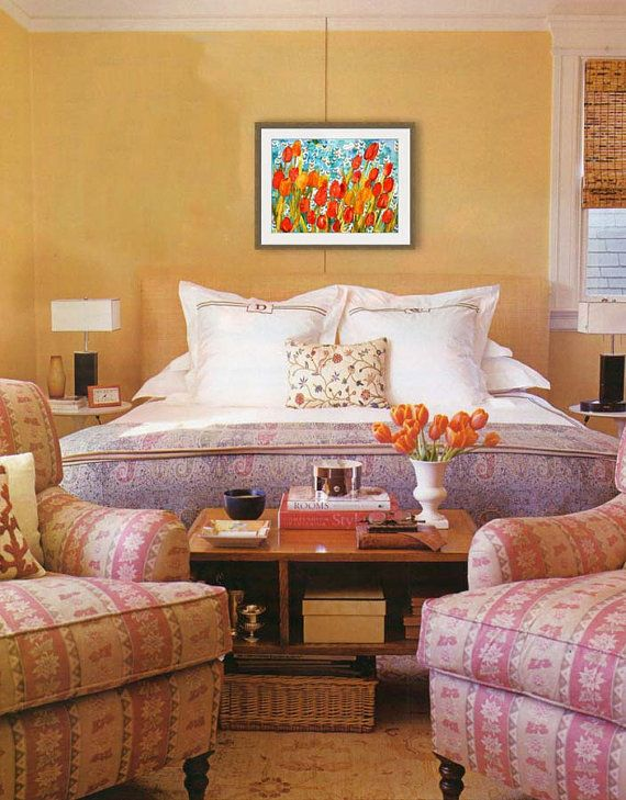 17 best images about bedroom decorating ideas on pinterest floral bedroom decor peacock art - Orange bedroom decorating ideas ...