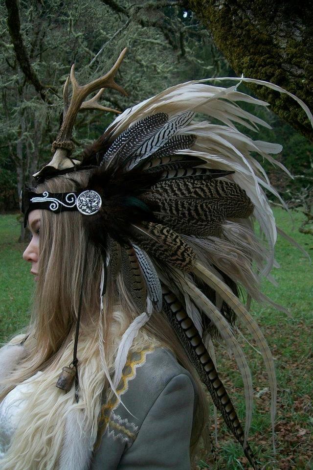 Tribal Feather Headdress Fashion Trend Headpiece Aztec