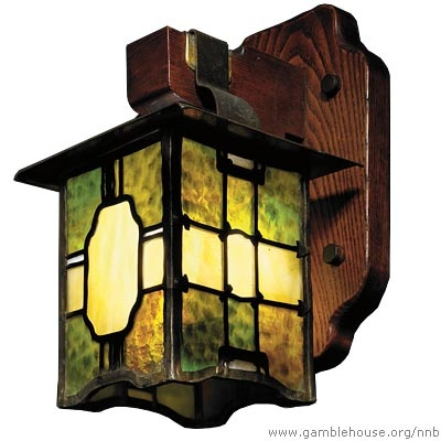 Greene & Greene Living-room wall sconce, 1904. Leaded glass, patinated metal, and Port Orford cedar and ash  Adelaide A. Tichenor house, Long Beach, 1904–05. Guardian Stewardship  Photograph courtesy of Sotheby's, New York.