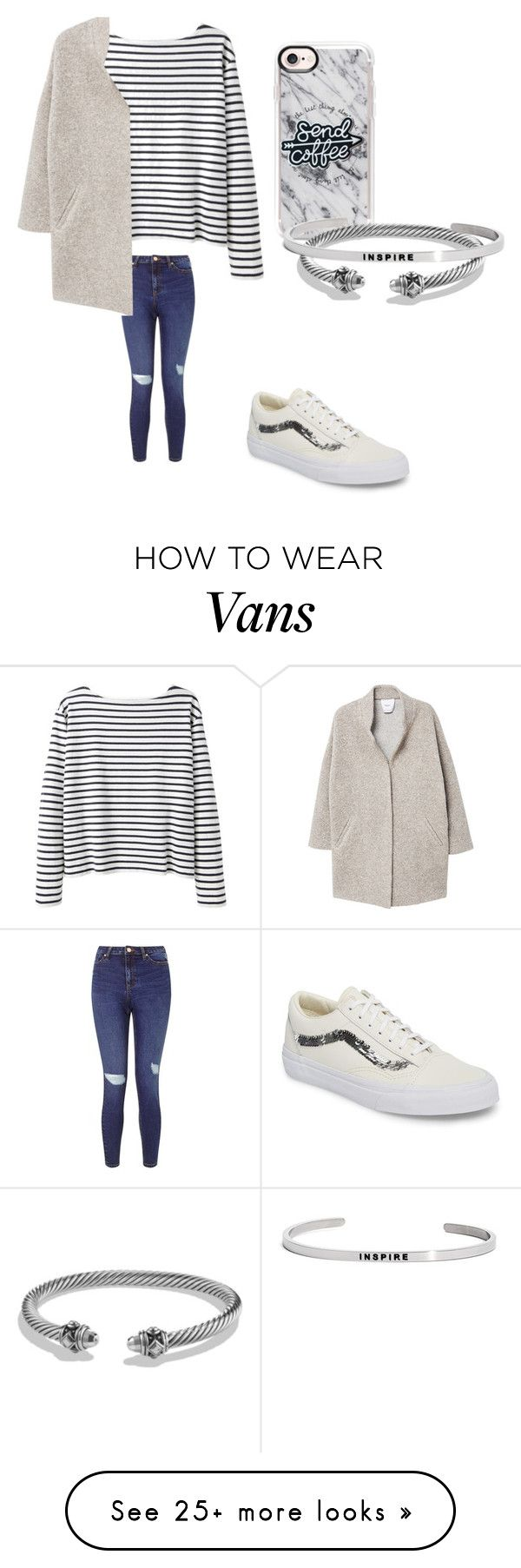 """Senden Coffee and inspire"" by sarahfohlen on Polyvore featuring Wood Wood, Vans, Miss Selfridge, Casetify, MANGO, David Yurman, MantraBand, Winter and 2k18"