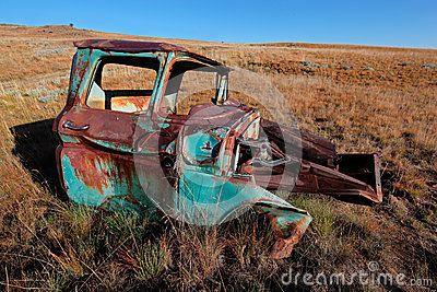 Rusty old pickup truck