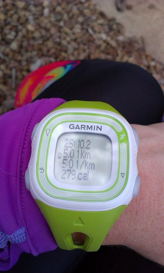 Just an easy 5km for me today. Easing back in after my 3 weeks off since the marathon!