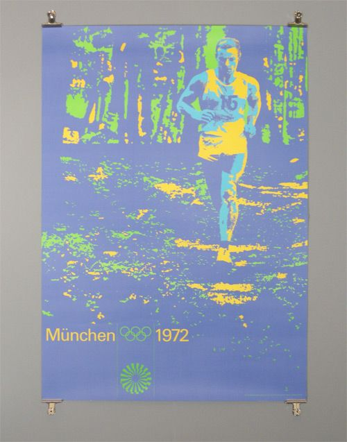 1972 Munich Olympics designed by Otl Aicher, running